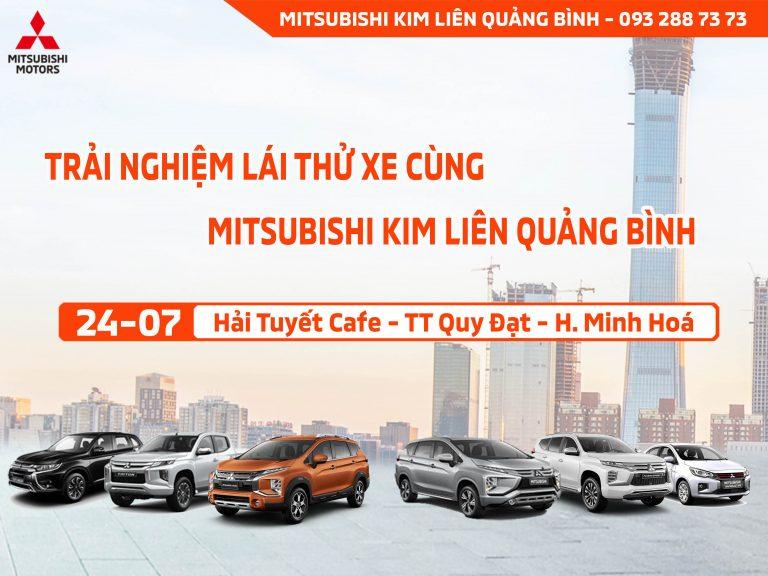 Trưng bày xe và Lái thử xe Mitsubishi tại Hải Tuyết Cafe – TT Quy Đạt